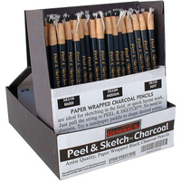 Generals Peel & Sketch Charcoal Pencils Display - #5634