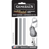 Generals Compressed Chalk Sticks Grey/White - #9408abp