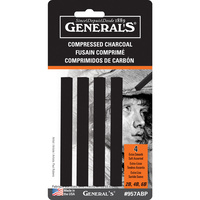 Generals Compressed Charcoal - #957abp-Black